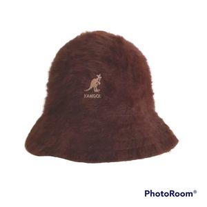 Kangol Angora Blend Soft Brown Furgora Bucket Hat Size Small